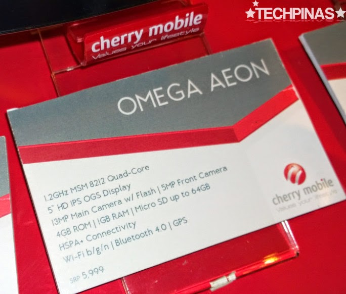 Cherry Mobile Omega Aeon, Cherry Mobile Android Smartphone