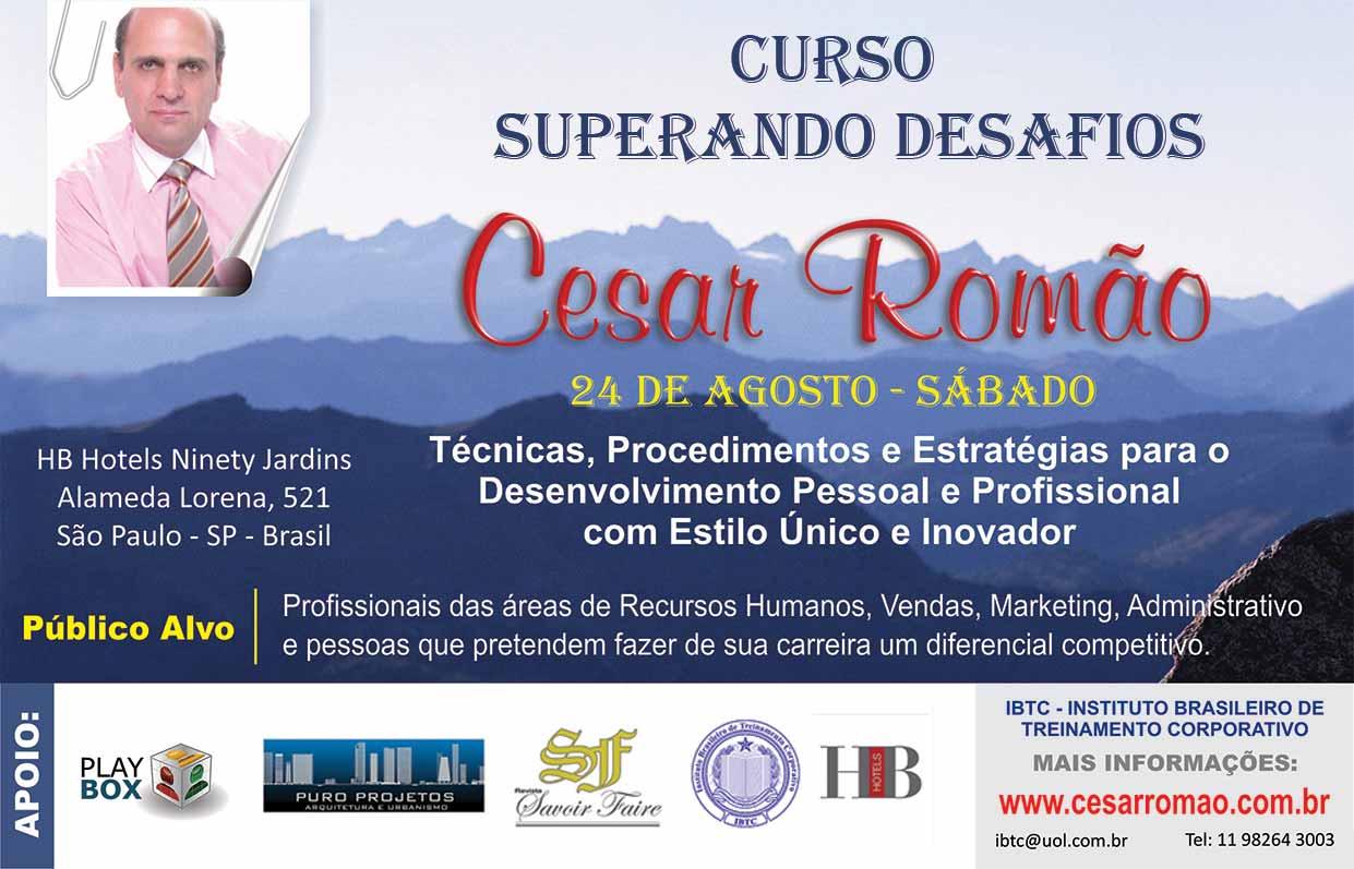 2cadaa77da9f5 Cesar Romão realiza Curso Superando Desafios em SP   Revista Savoir ...