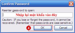Cài mật khẩu cho file Word