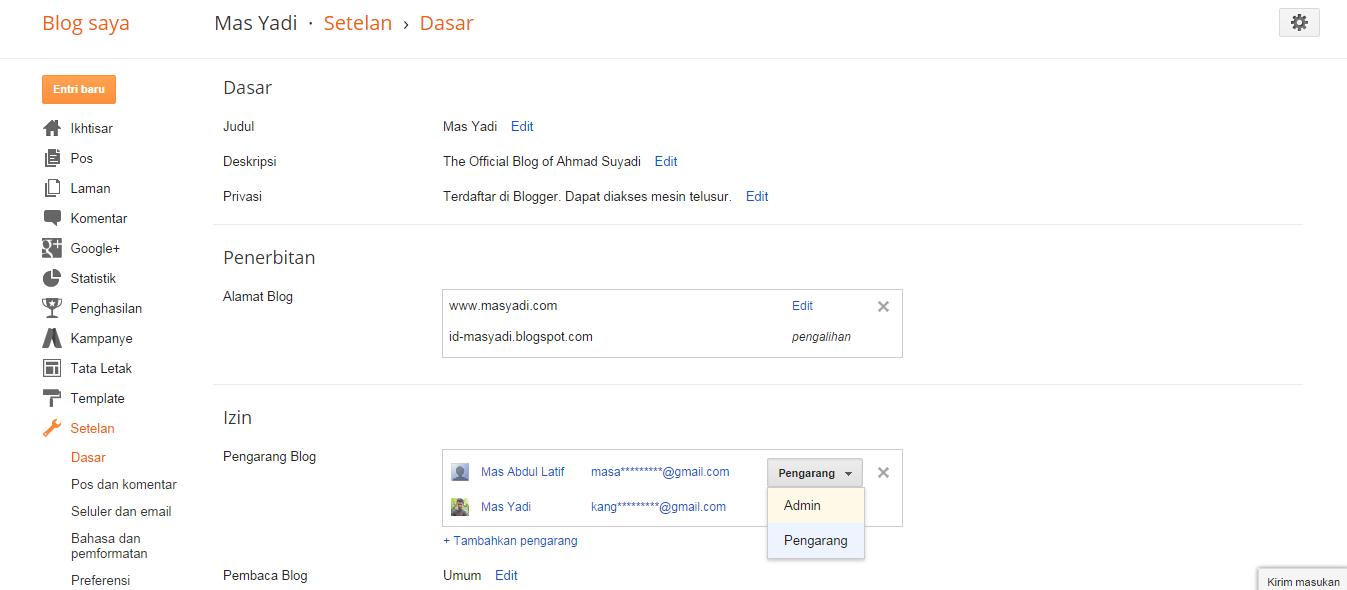 Cara Mengubah Penulis Blog Menjadi Admin