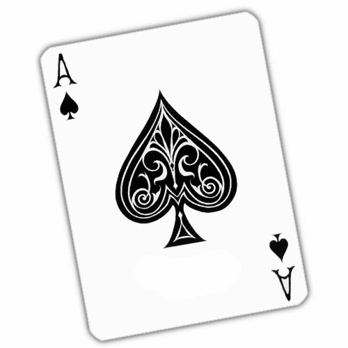 Ace of spades card tattoo stencil
