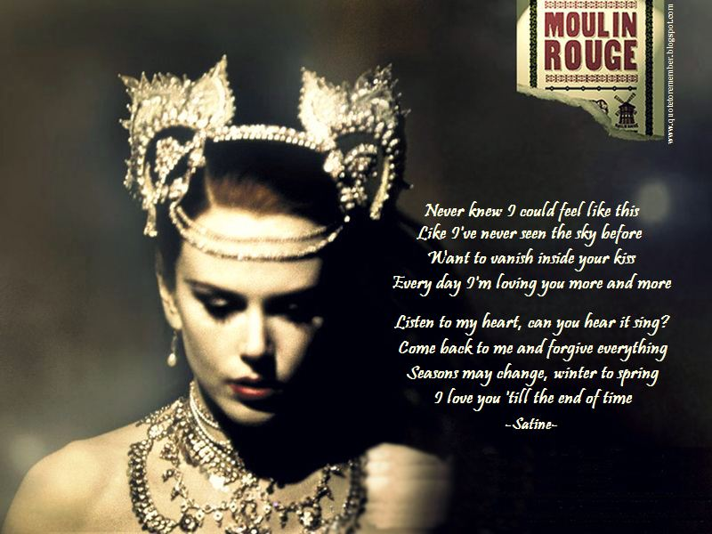 moulin rouge movie quotes