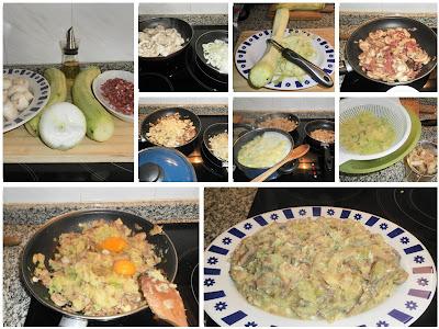 QUECOMEMOSHOY, CALABACIN TRES SABORES, REVUELTO DE CALABACIN Y CHAMPIÑONES, cocina, gastronoia, receta, blog solo yo, blog cocina, solo yo,