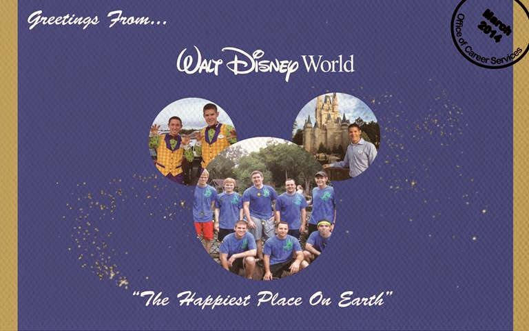 Greetings From Disney Postcard front