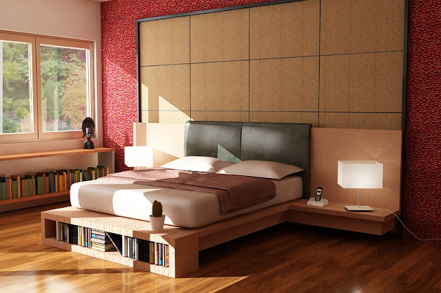 3d photograph realistic quality residential Interior Design bedroom rendering