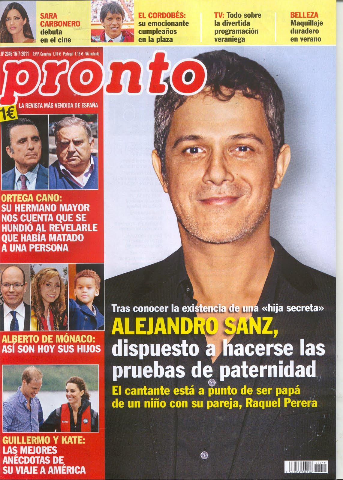 Pongamos que hablo de alejandro sanz alejandro es portada for Revista pronto primicias ya
