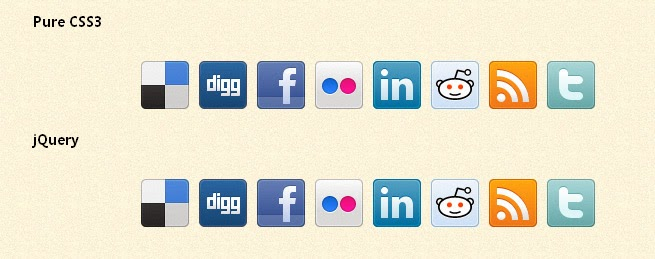 Display social icons in a beautiful way using CSS3