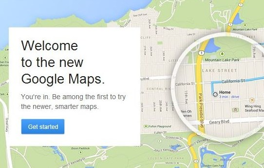 The New Google Maps Now Available