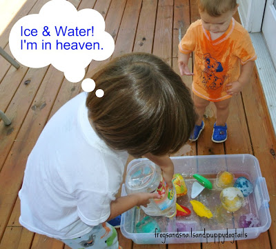 Super Sized Ice = Super Sized Fun-sensory ice play