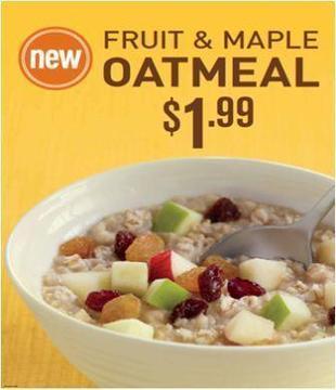 run lindy run: Product Review: McDonald's Fruit & Maple Oatmeal