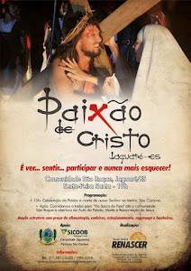 CARTAZ DO ESPETÁCULO PAIXÃO DE CRISTO 2014