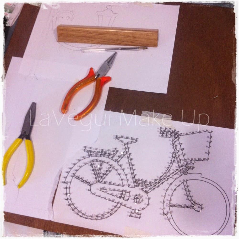 Lavegui Make Up: DIY Deco: Cuadro bicicleta de hilo tensado!