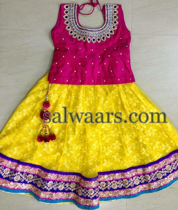 Simple Brasso Yellow Lehenga
