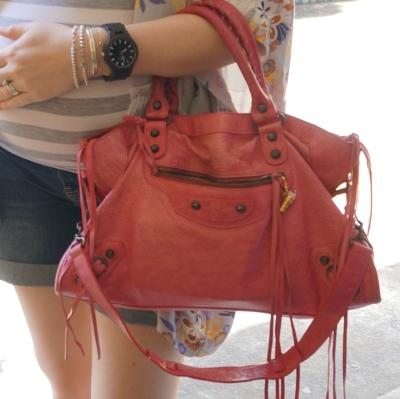 AwayFromTheBlue | Balenciaga sorbet pink regular classic city bag 2010 split tassels