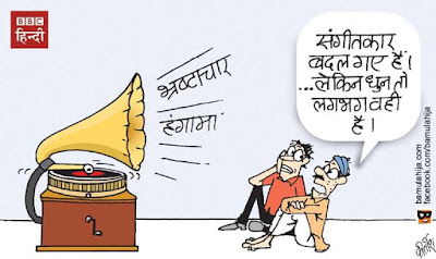 bjp cartoon, congress cartoon, cartoons on politics, indian political cartoon, parliament, corruption cartoon