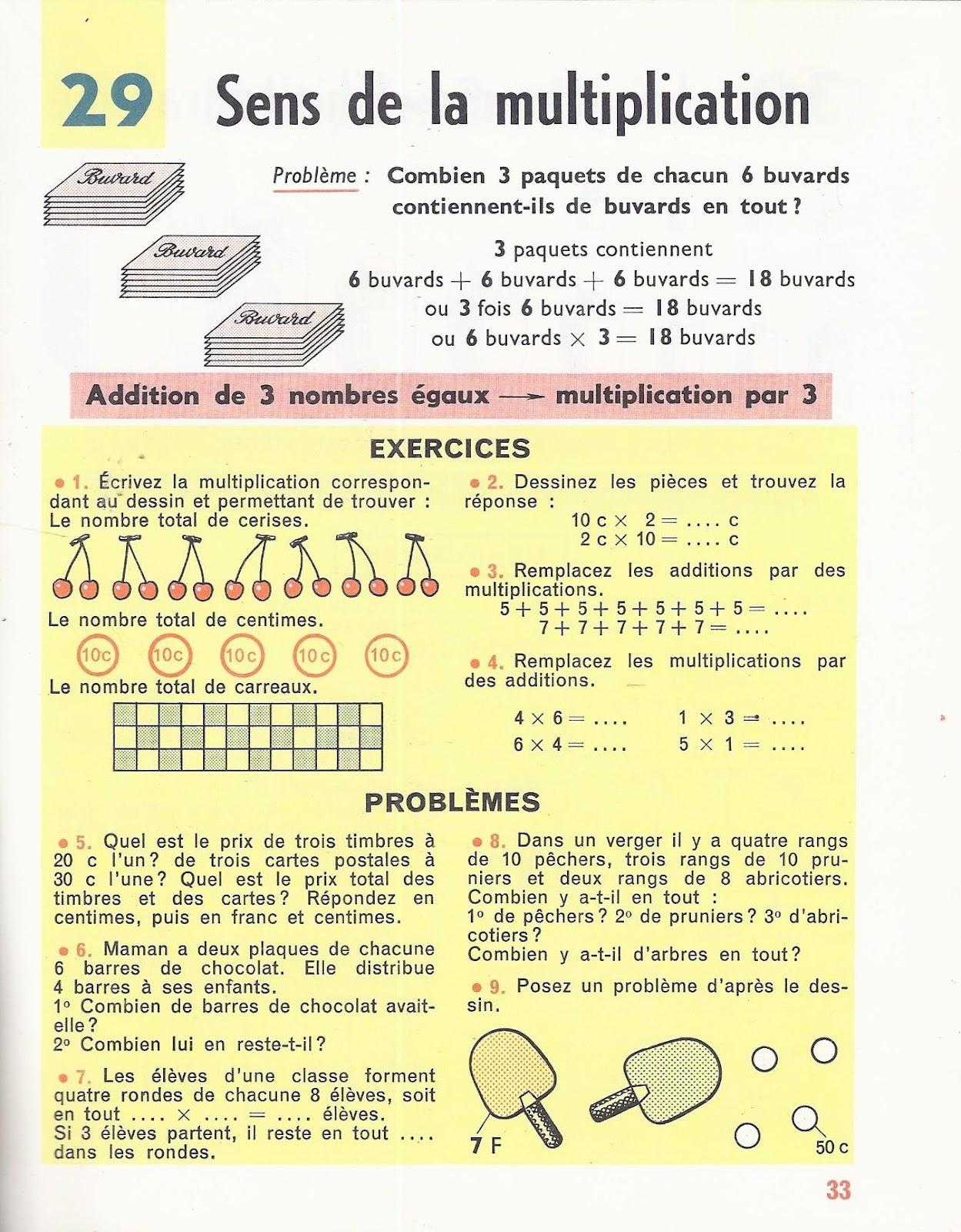 Manuels anciens denise rosier calcul ce2 1963 for La multiplication ce2