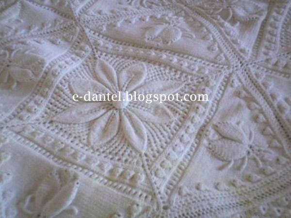 Beyaz Bebek Battaniyesi Modeli