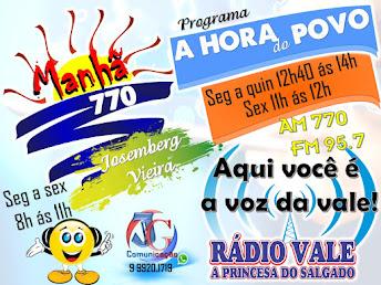 OUÇA ABAIXO RÁDIO VALE AM E FM