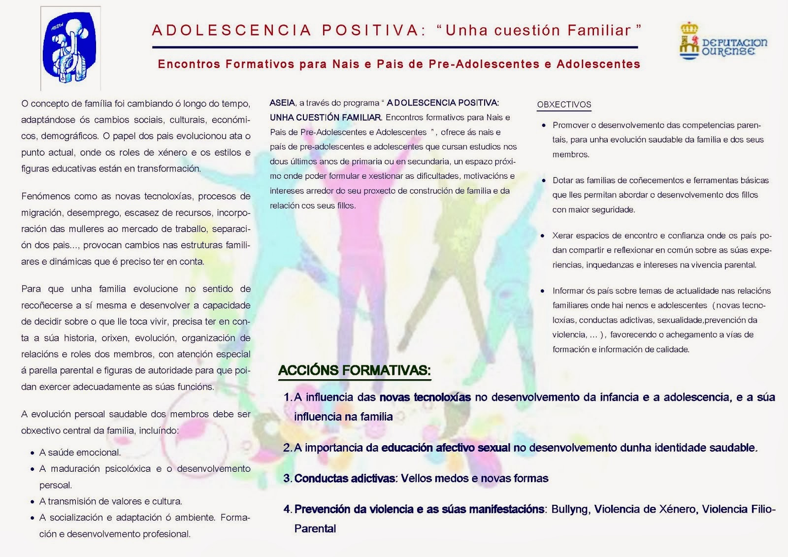 "ADOLESCENCIA POSITIVA: ""Unha cuestión familiar"""