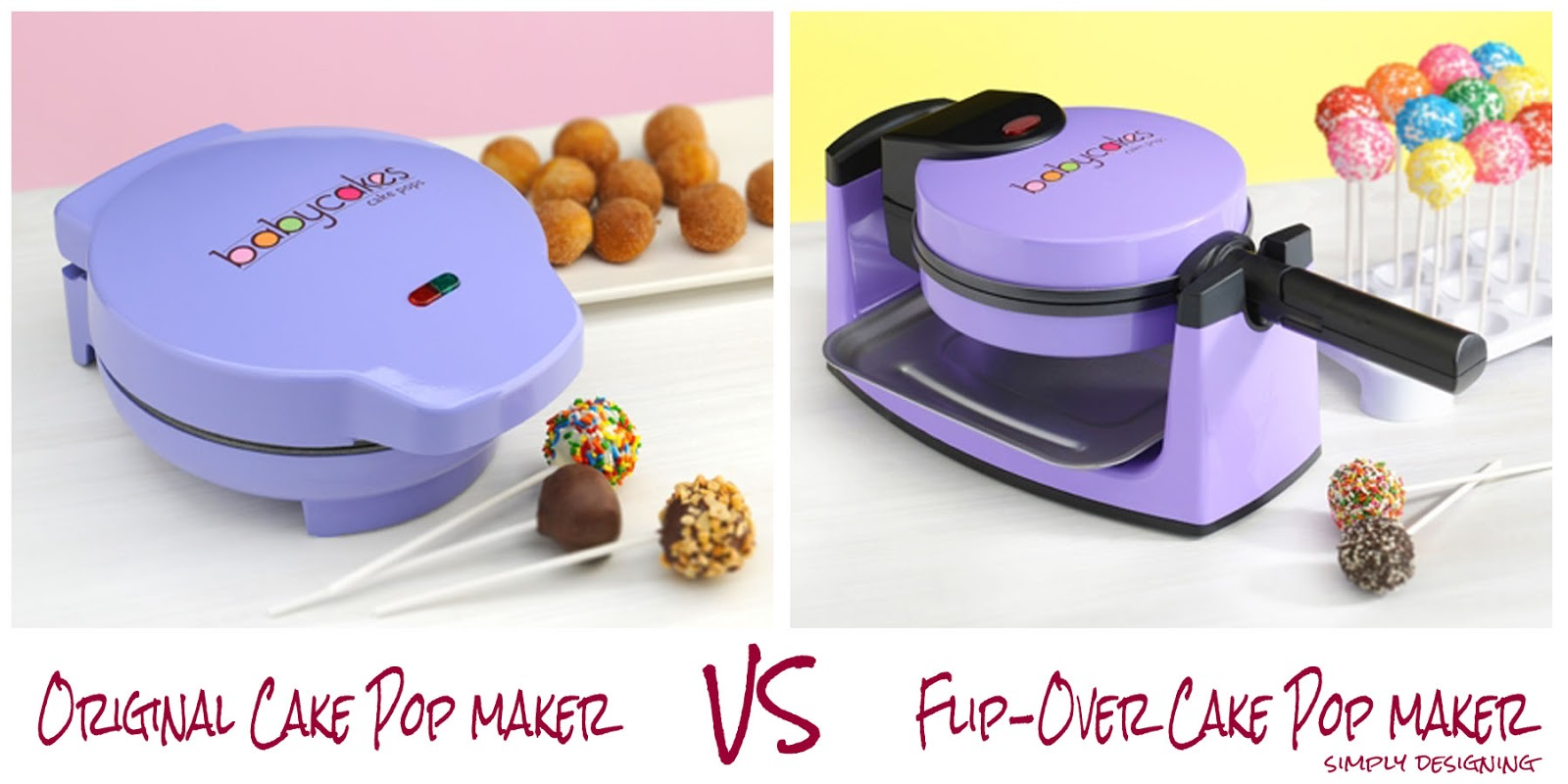 flip over babycakes cake pop maker vs original cake pop maker. Black Bedroom Furniture Sets. Home Design Ideas