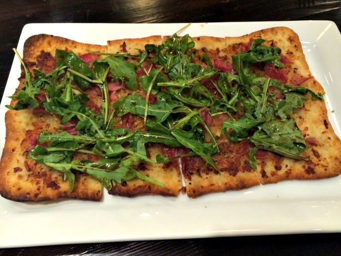 The Holland House: Parmesan Asiago and Prosciutto Flatbread