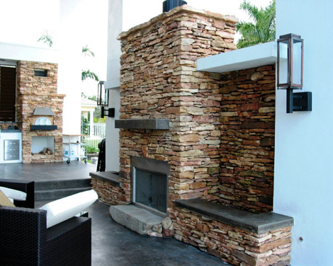 Morrone Interiors Stacked Stone Makes Your Fireplace Pop