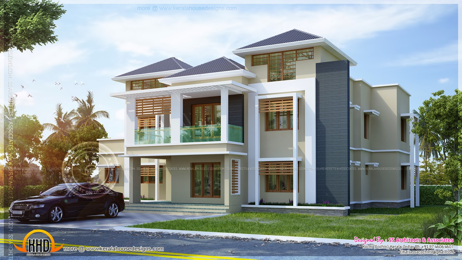 Awesome house plan kerala home design and floor plans for 3000 sq ft house plans kerala style