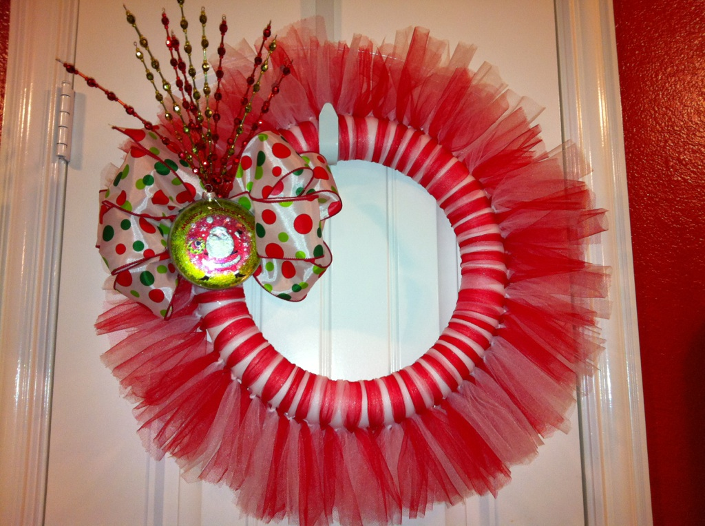 Christmas How To Make A Tulle Tutu Wreath Step By Step