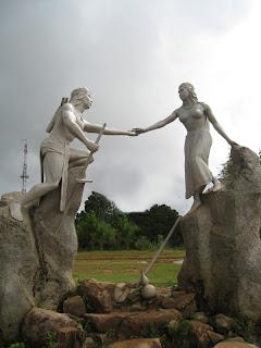 Statues in Lang Biang (Da Lat, Vietnam)