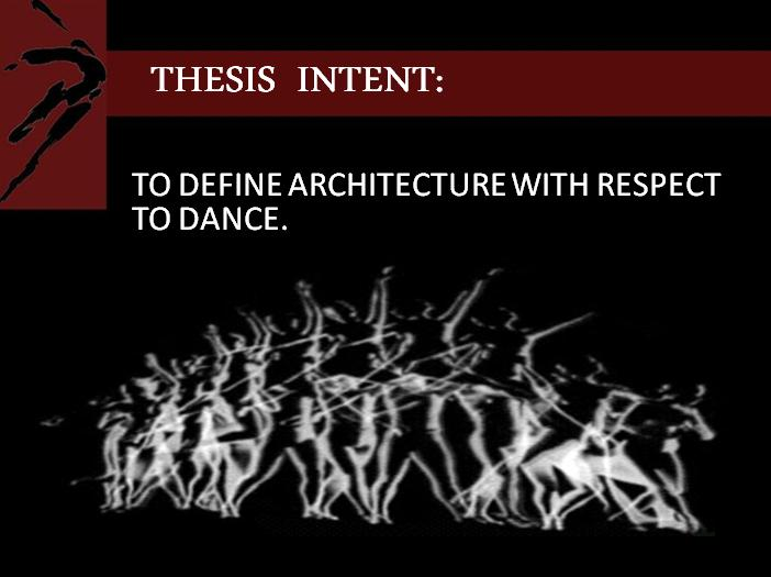 architectural thesis on dance academy
