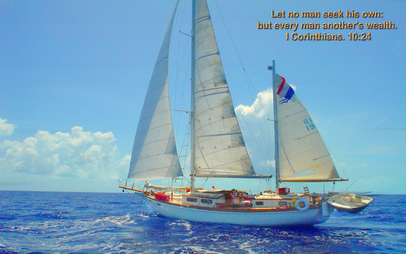 Christmas Cards 2012: Natural Sailing in Sea Bible Verse