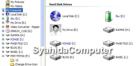 merubah icon drive
