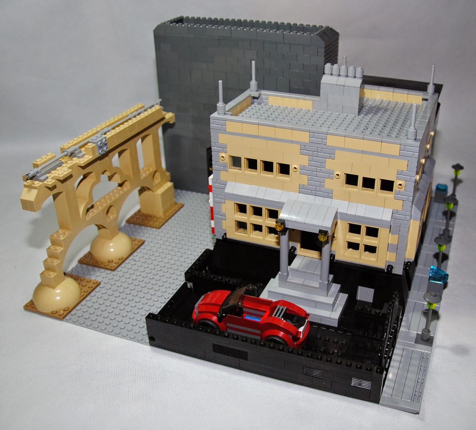 Vista general del bloque construido.