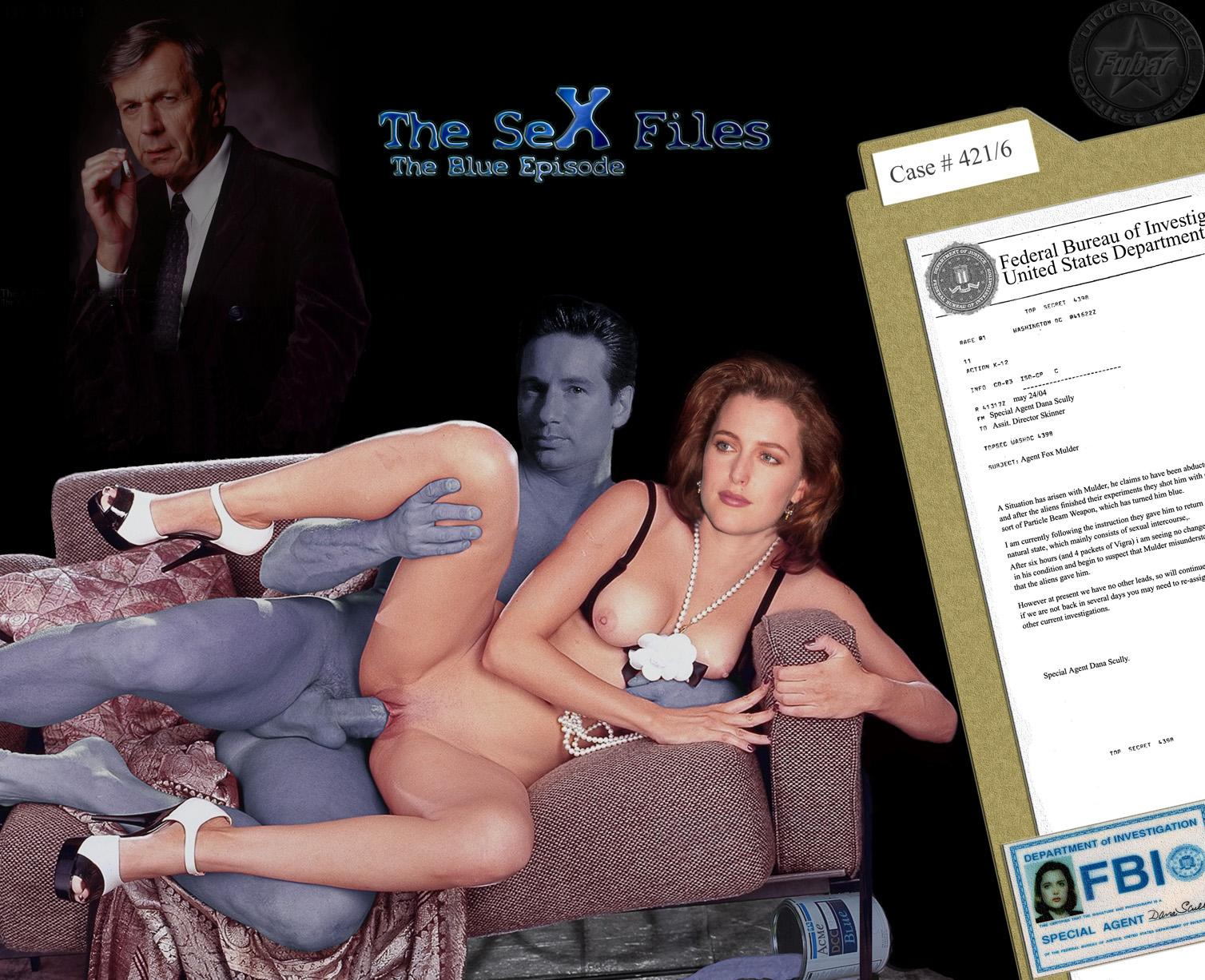 Gillian Anderson Files Fakes