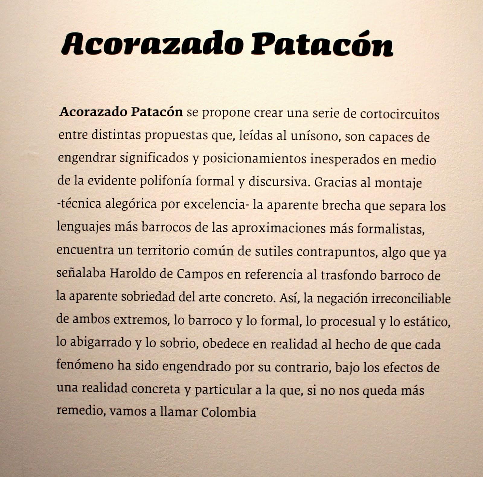 """""""Acorazado"""",""""Patacón"""", """"Einsestein"""",""""Potemkin"""",""""Colombia"""",""""artistas"""",""""Tabacalera"""",""""La Fragua"""", """"UCM"""",""""temple"""",""""yema"""",""""huevo"""",""""aglutinante"""""""