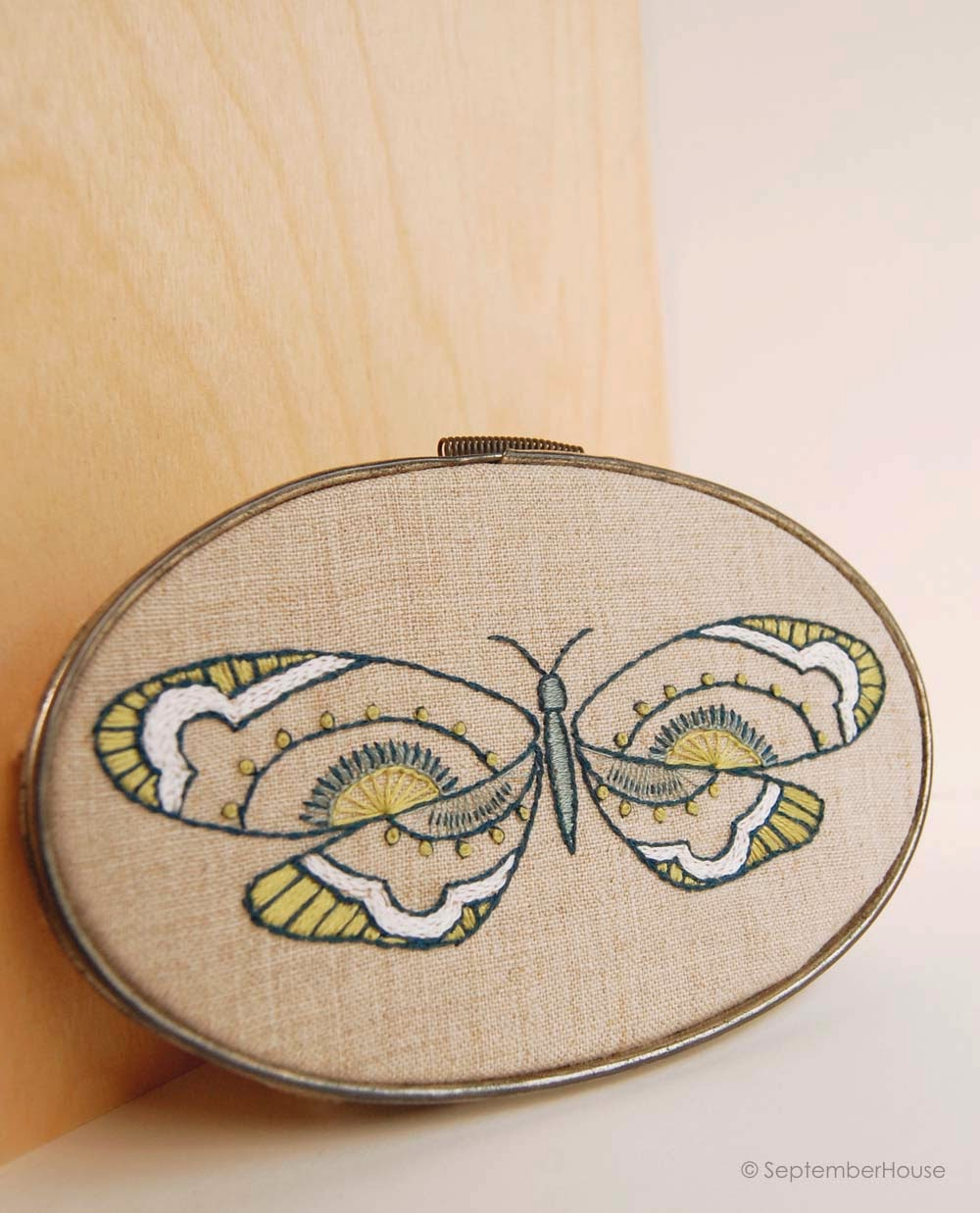 Butterfly hand embroidery patterns from SeptemberHouse