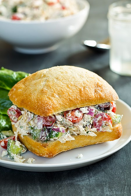 MELT Miami: Greek Chicken Salad Sandwiches