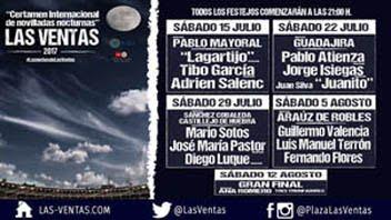 MADRID LAS VENTAS 15 - 22 - 29 DE JULIO Y  05 - 12 E AGOSTO -2017  NOVILLADAS CON PICADORES