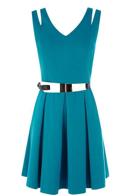 aqua mini dress