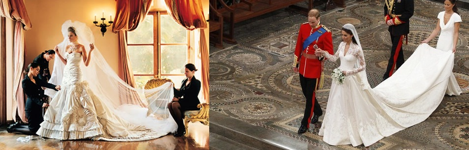 melania trump wedding dress. by Melania Trump (left).