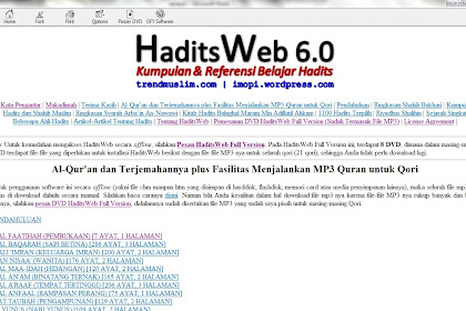 Resume Of Hadits Web 6.0