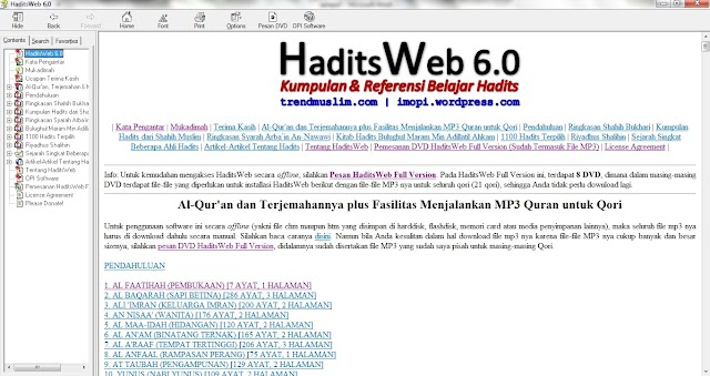 Resume Of Hadits Web 6.0