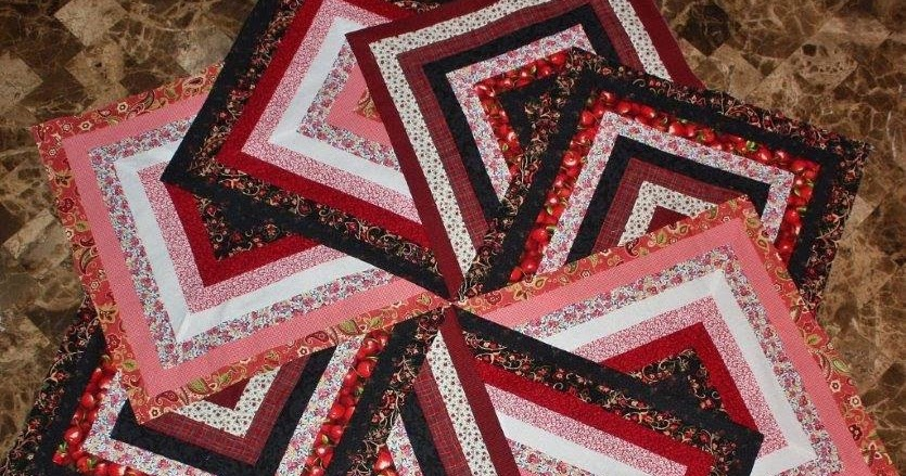 Sarah Lynn s Quilting: Strata Star Table Topper -- Top is Done