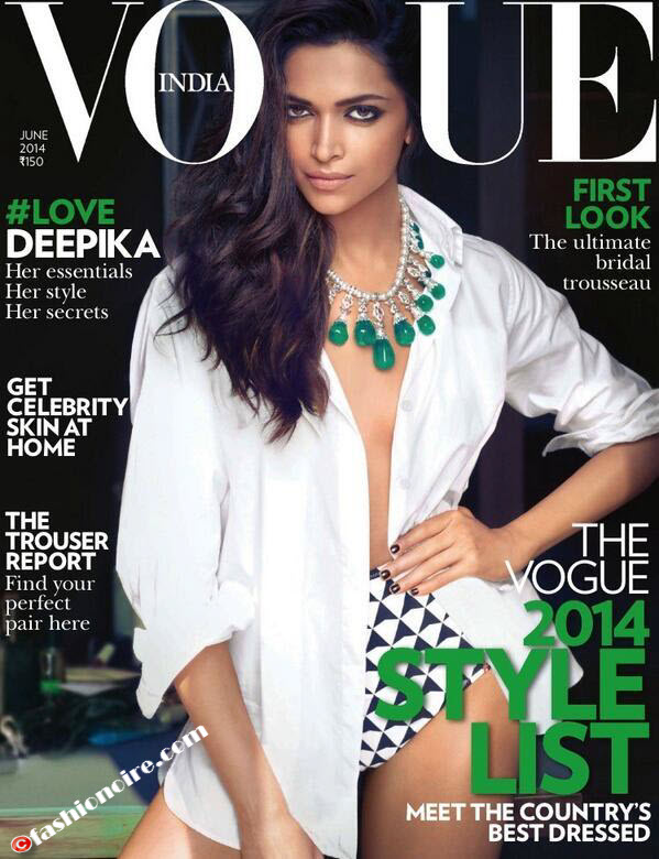 Deepika Padukone-Cover Girl of Vogue's June edition with Bold Look