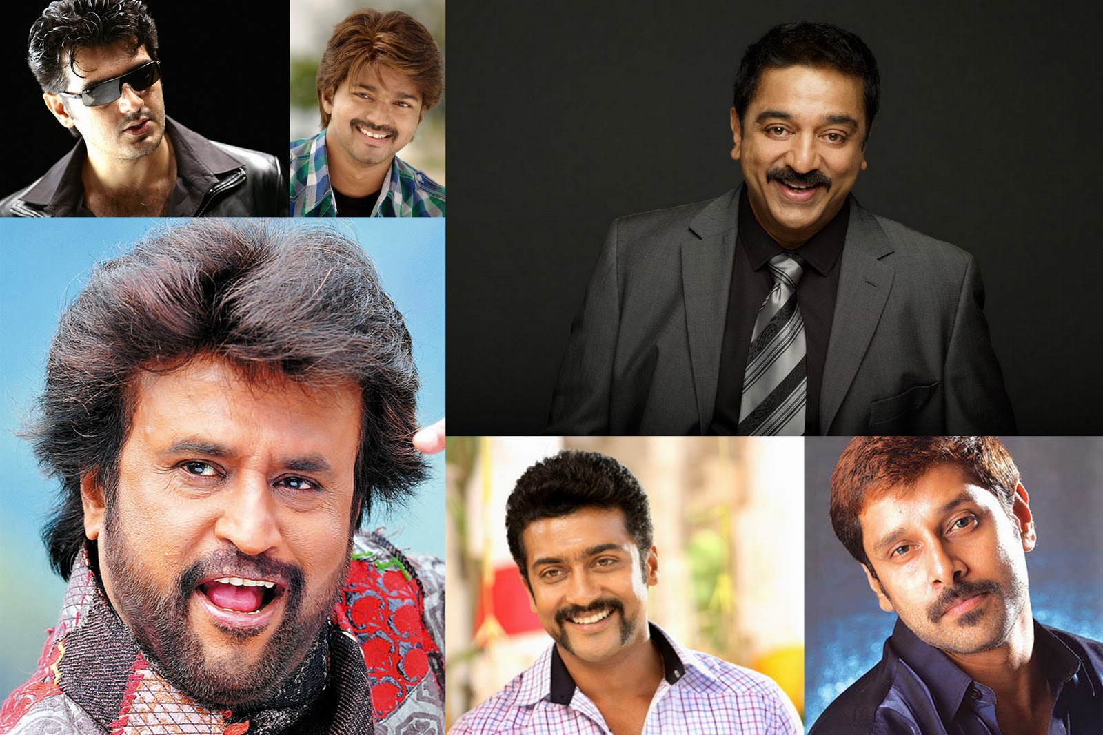 Tamil Kollywood Zone: Top 6 Tamil Actors Highest Paid