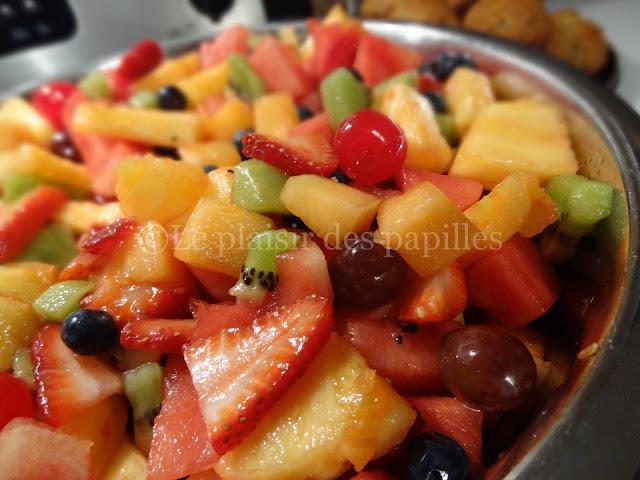 Le plaisir des papilles salade de fruits frais - Coupe de salade de fruits ...