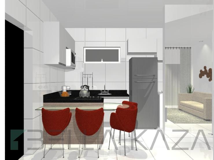 cozinha pequena americana