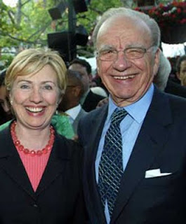 Rupert Murdoch with Hillary Clinton
