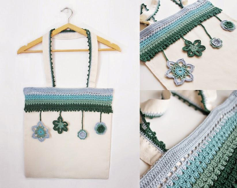 DIY Tuto bordure dentelle au crochet sur un Tote Bag - Chez Violette  DIY Tuto bordure dentelle au crochet sur un Tote Bag