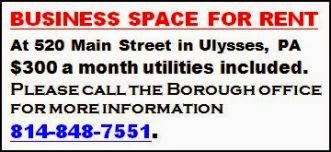 Business Space In Ulysses, PA For Rent